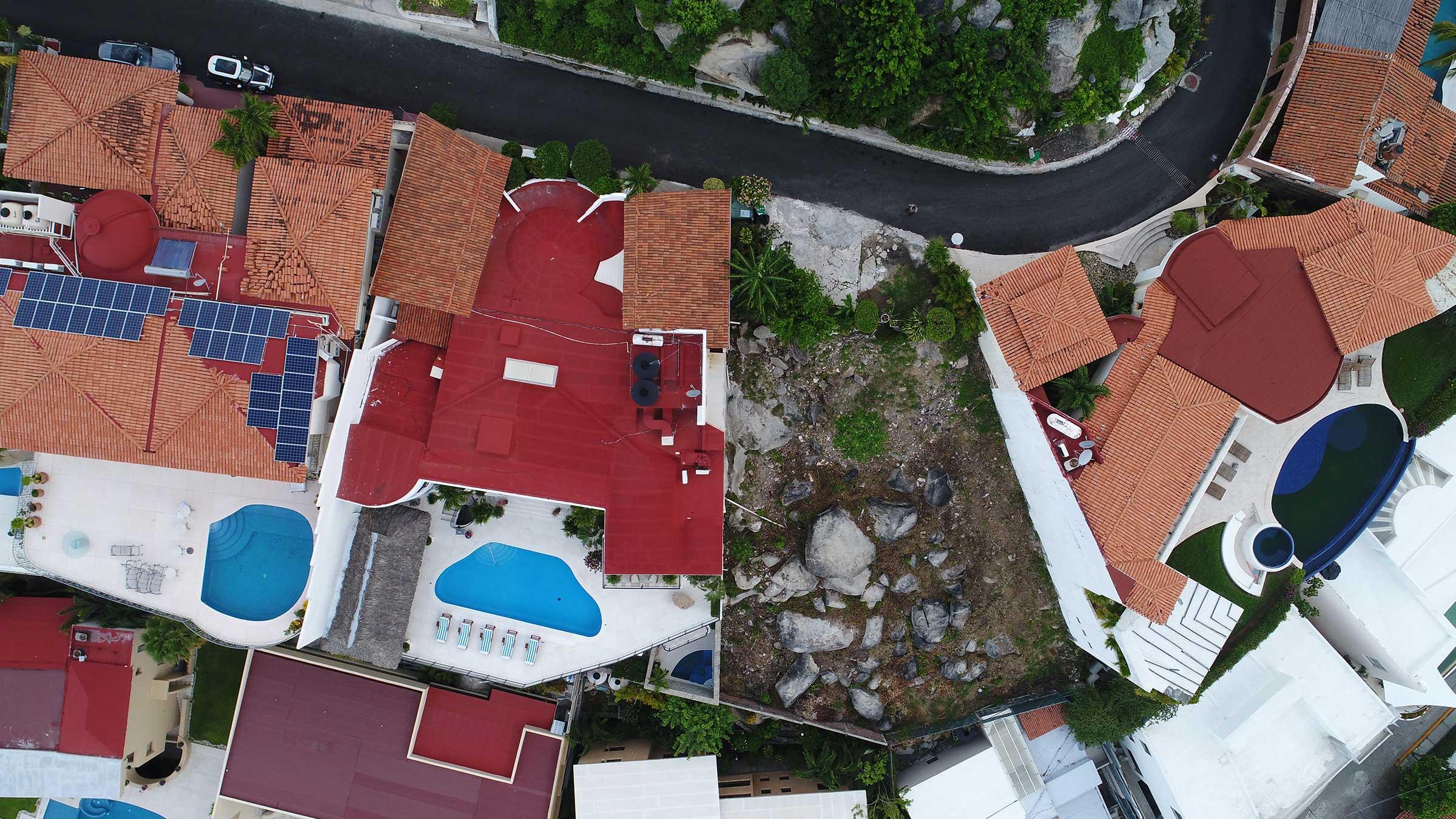 Vista aerea de Casa Buenos Aires, Acapulco