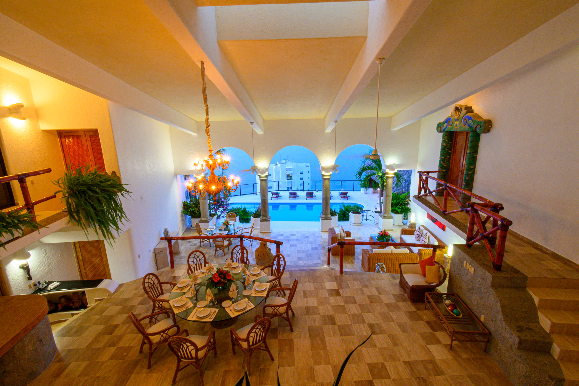 Interior de Casa Buenos Aires, Acapulco
